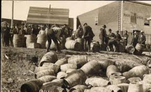 Ratification of the 18th Amendment - Prohibition