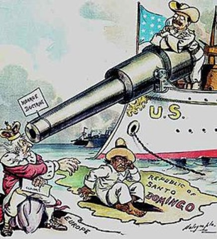 The Roosevelt Corollary to the Monroe doctrine declares the U.S. right to intervene in the Western Hemisphere
