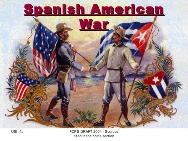 The U.S. declares war on Spain