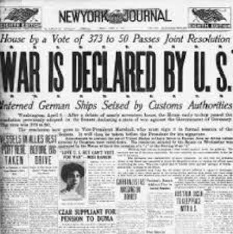 The United States enters WWI