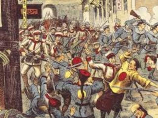 The start of the Boxer Rebellion