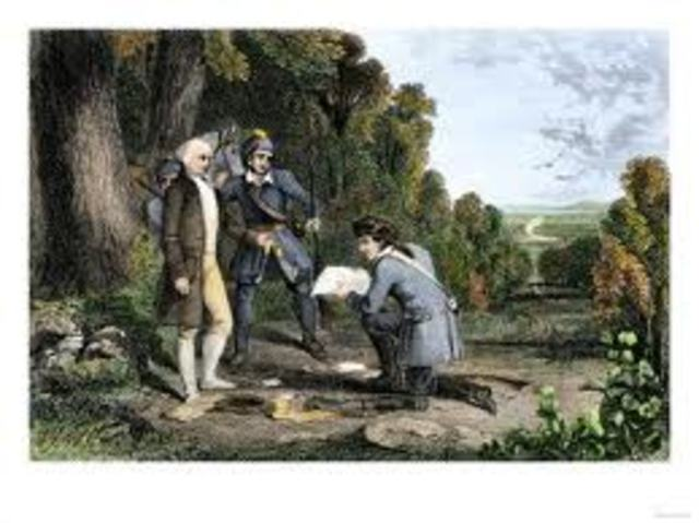 Benedict Arnold's treason is discovered
