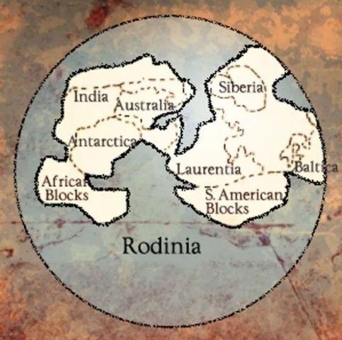 Se forma el supercontinente Rodinia