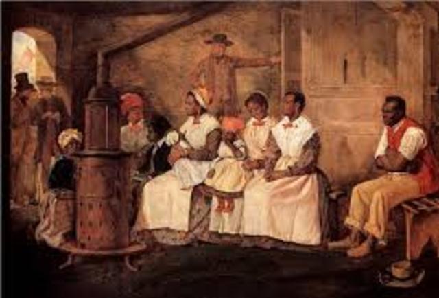 The slavery in Virginia