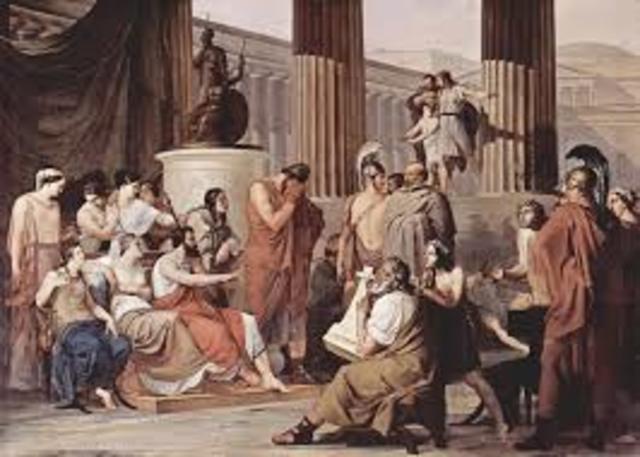 Telémaco reúne en asamblea al pueblo de Ítaca