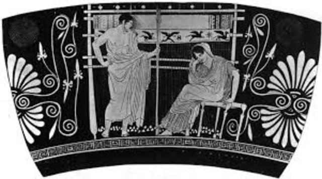 En Ítaca lo pretendiente de Penélope, se enteraron que Telémaco fue a buscar a Ulises