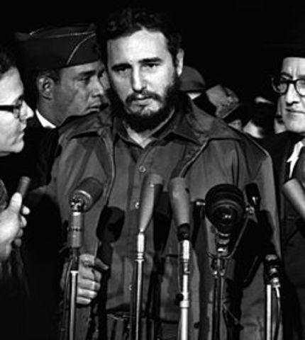 Llegada de Fidel a la capital