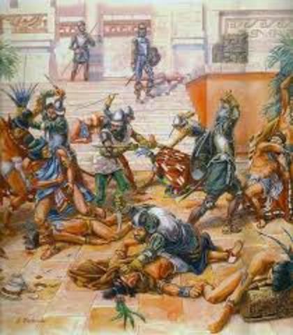Ataque a indígenas en el Templo Mayor