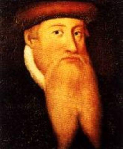 Gutenberg inventa la imprenta movible