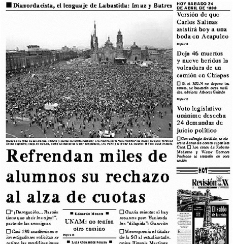 CGH paraliza a la UNAM