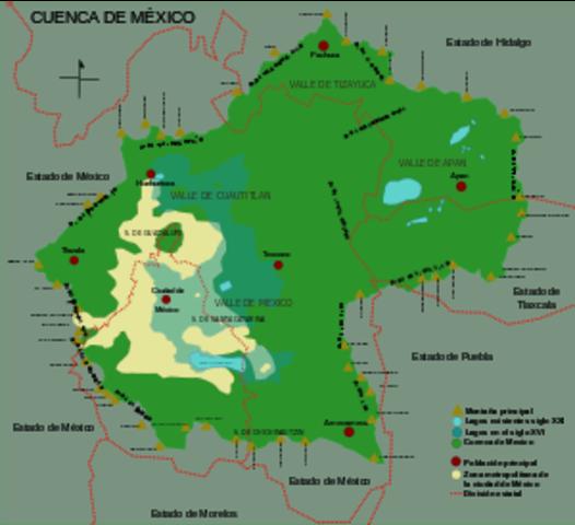 LLEGADA A LA CUENCA DE MEXICO