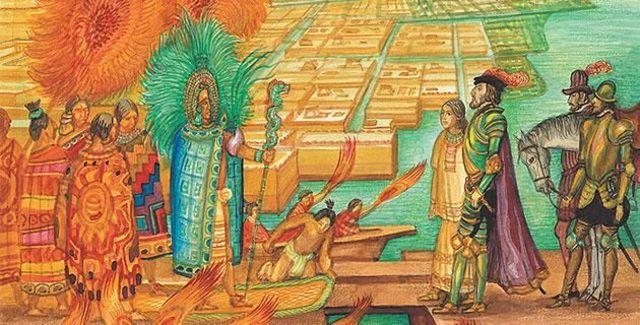HERNAN CORTÉS ENTRA A MEXICO-TENOCHTITLAN