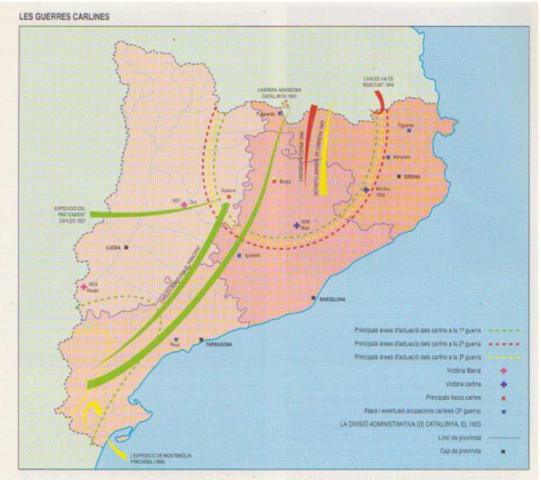 Geografia del carlisme