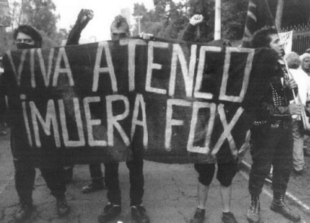 Policías tomaron por la fuerza el poblado de San Salvador Atenco.