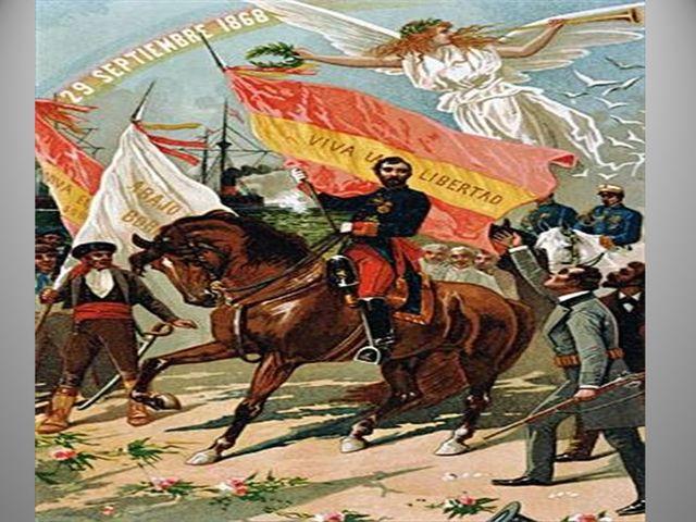 """La """"Gloriosa"""", Revolució de setembre de 1868."""