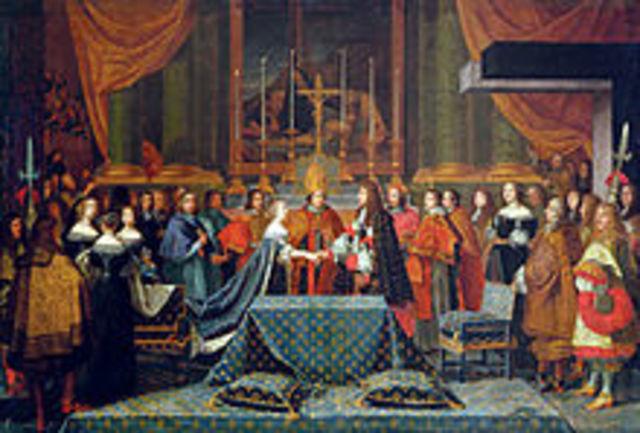 XIV. Lajos első házassága