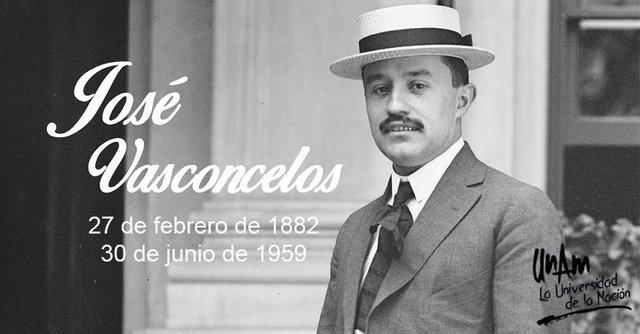 José Vasconcelos como rector