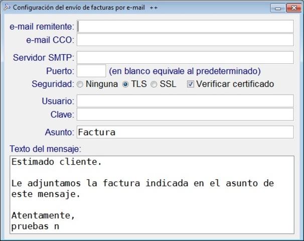 Primer programa para enviar correo electrónico