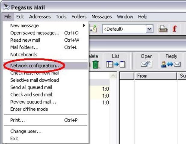 1º programa para enviar correo electrónico.