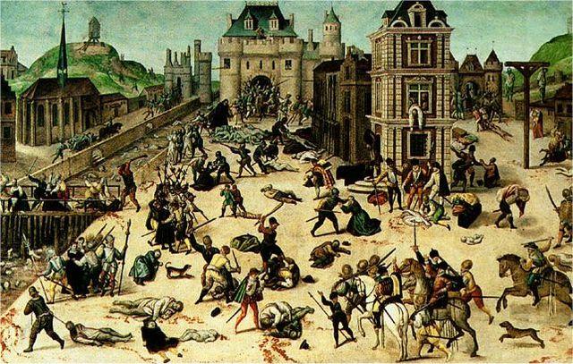 Inicio de las guerras de religión en Francia. Matanza de Vassy