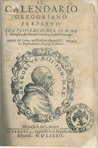 Introducción del calendario gregoriano
