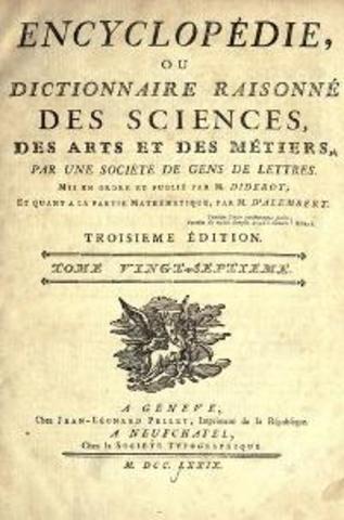 Primer volumen de la Enciclopedia francesa
