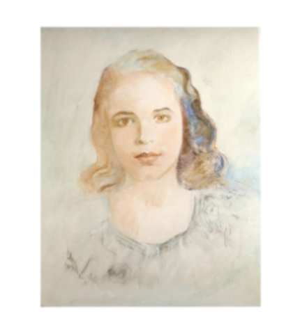 Beatriz, oil on canvas.