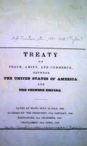 Treaty of Wanghia with China