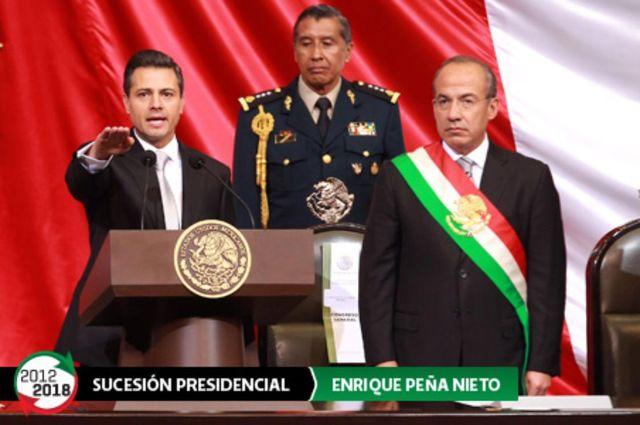 Enrique Peña Nieto asume el cargo de México como Presidente de la República