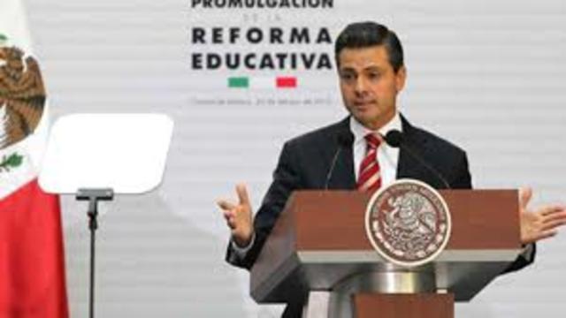 El congreso de la unión aprueba la reforma educativa del Gobierno de Enrique Peña Nieto.