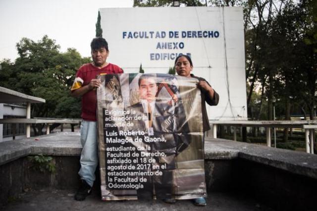 Luis Roberto Malagón de Gaona, estudiante de la Facultad de Derecho fue localizado inconsciente en los pozos de absorción