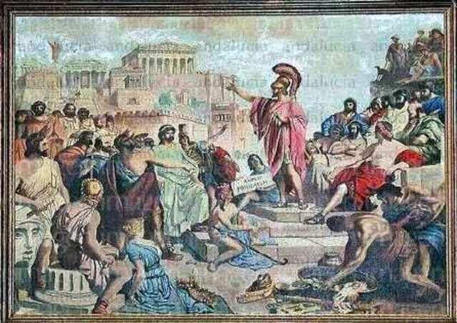 Derrota de Atenas en la guerra del  Peloponeso
