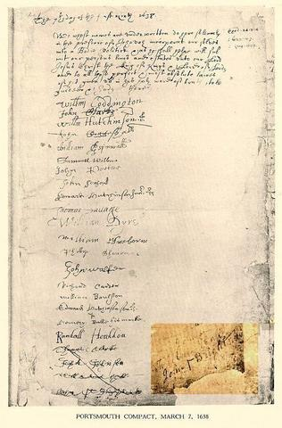 The Portsmouth compact was signed