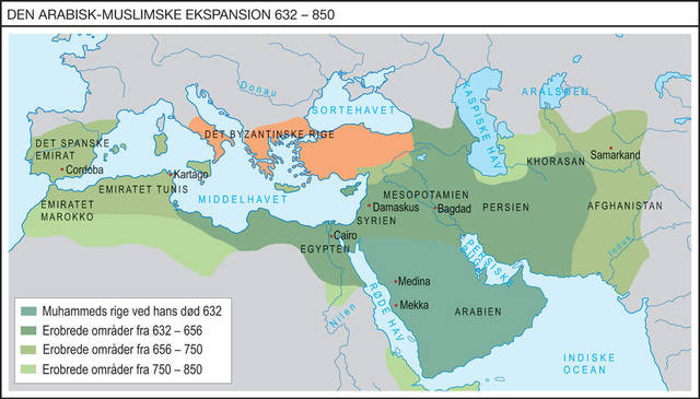 Muslimerne mister det sidste område i Europa