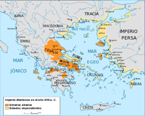Atenas y otros estados griegos constituyeron la Liga de Delos contra los persas