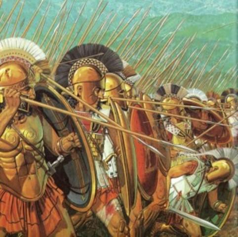 Esparta derrota a Atenas en la Guerra del Peloponeso. Atenas es obligada a adoptar el gobierno de los oligarcas, los Treinta Tiranos.