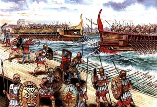 Atenas y otros estados griegos constituyen la Liga de Delos contra los persas