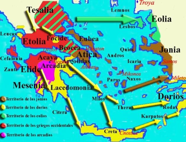 Oleada de población griega