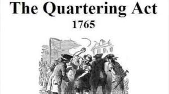 Quartering Act was passed by Parliament
