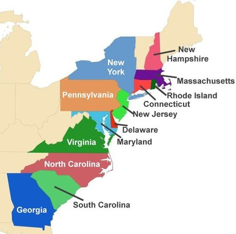 The colonies became the United States of America