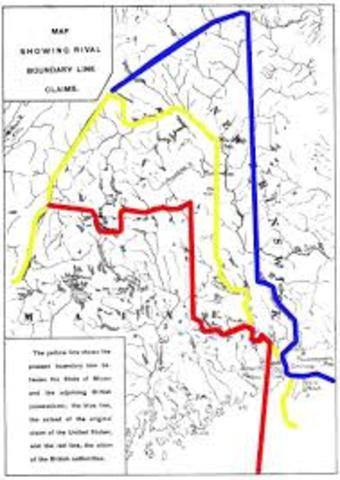 Massachusetts separates from Maine.
