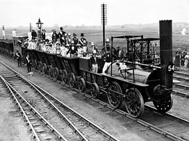 First american railroad was built