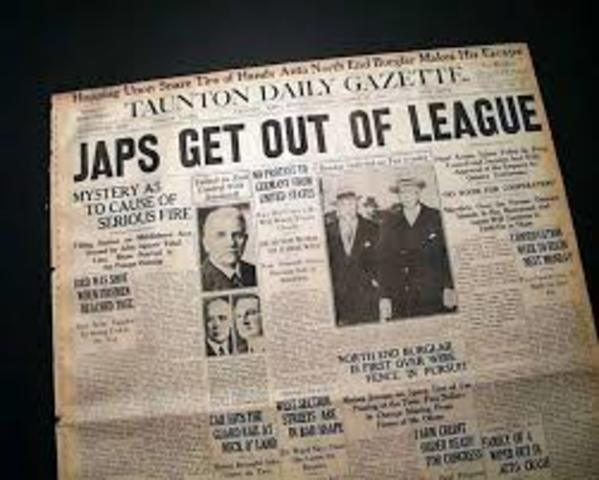 Japan leaves the League of Nations