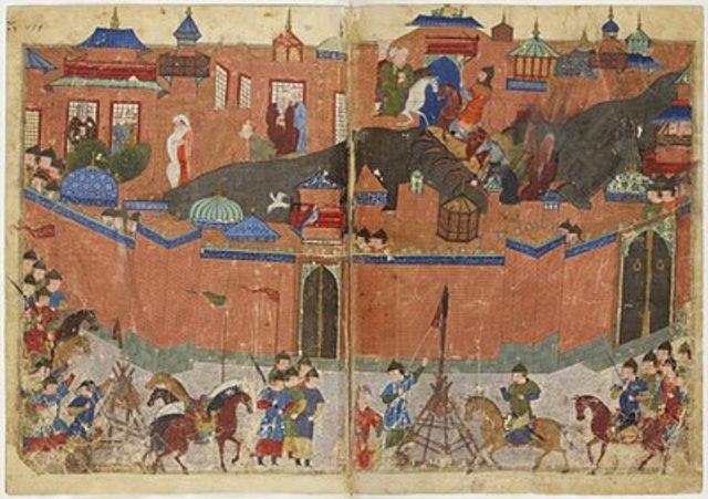 Den muslimske hovedstad Bagdad bliver totalt ødelagt af erobrer fra Mongoliet