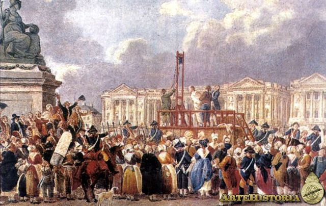 Ejecución de Luis XVI y María Antonieta
