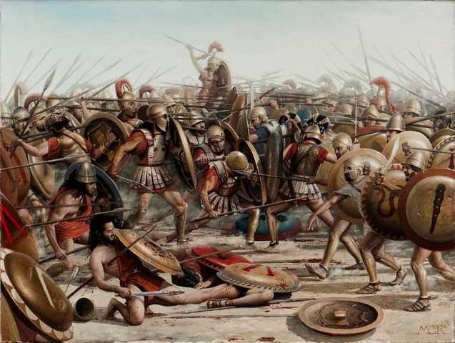 Esparta gana a Atenas (guerra del Peloponeso)