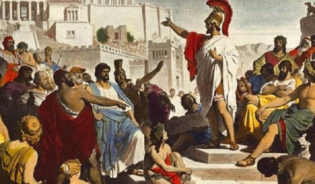 Instauración democrática de Atenas
