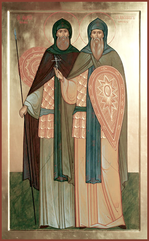 Воины – братья Александр-Пересвет и Андрей-Ослябя