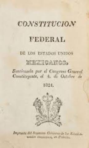 se promulga la Constitución de 1824 de corte Federal