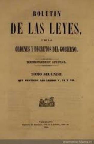 se promulga la Constitución de 1836 de corte Centralista 1836